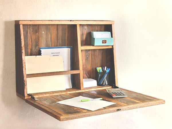 Writer's Home Office Ideas - Drop Down Desk