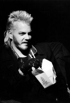 David eating noodles in the Lost Boys