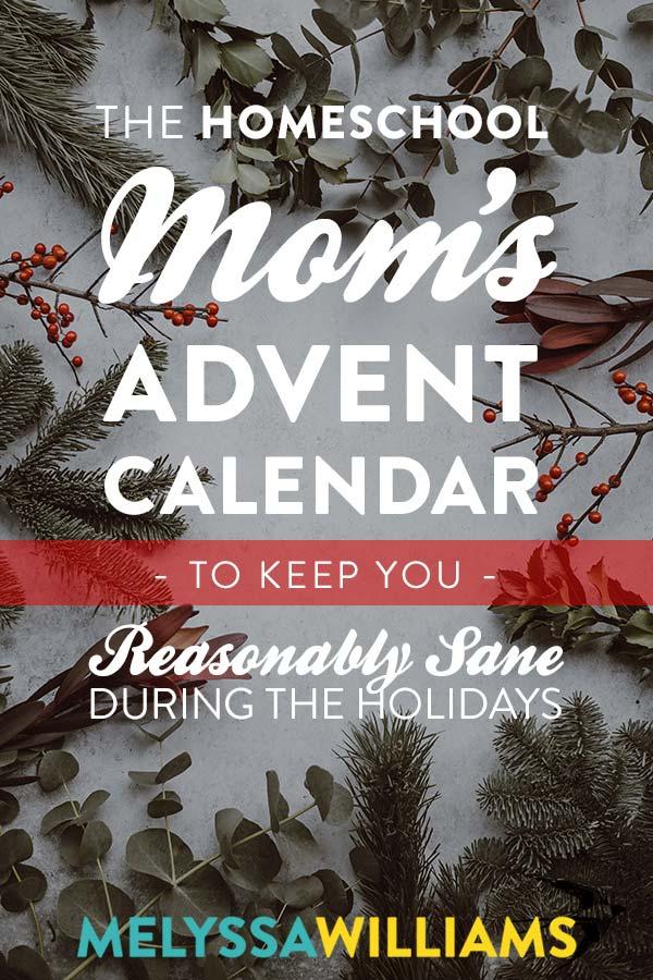 Advent Calendar for Homeschool Moms