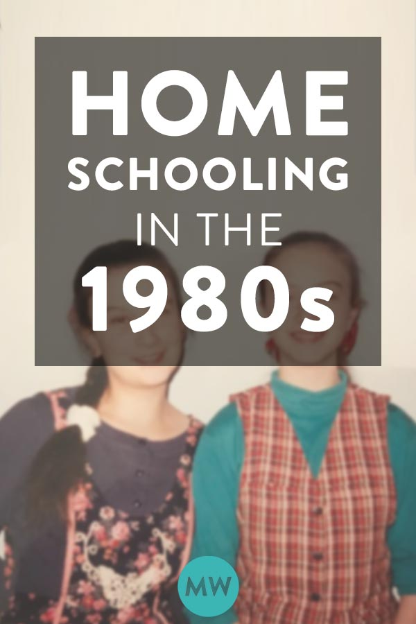 Homeschool Life in the 1980s