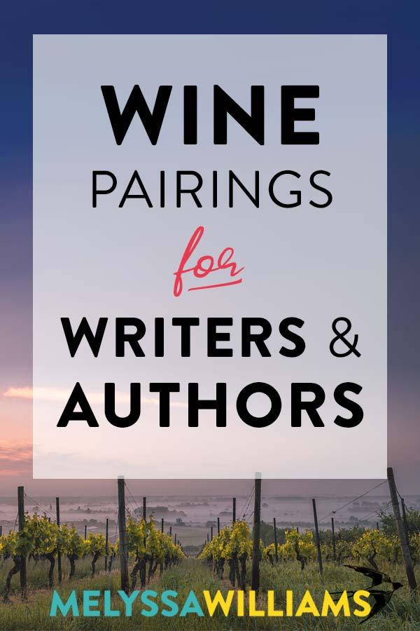 Authors love wine