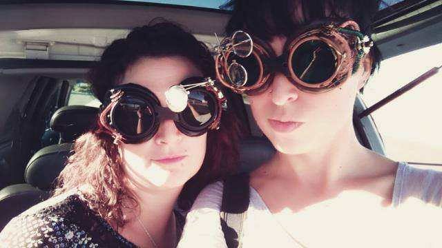 On our way to a steampunk photo shoot