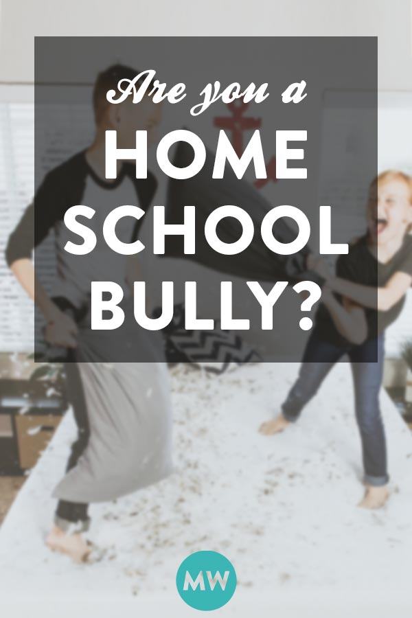 Bullies and homeschooling