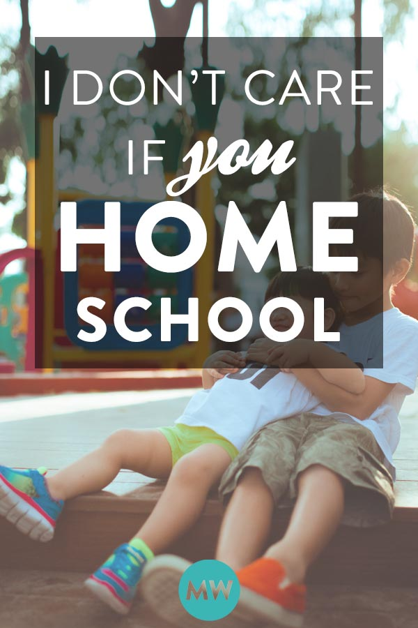 Homeschool vs public school - it's your choice