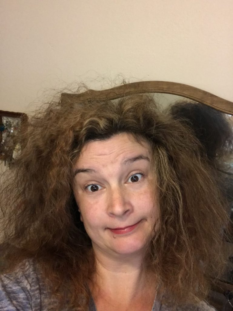 Curly hair after a good comb