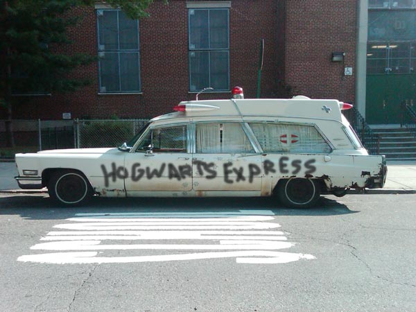 Creepy Hogwarts Express Van