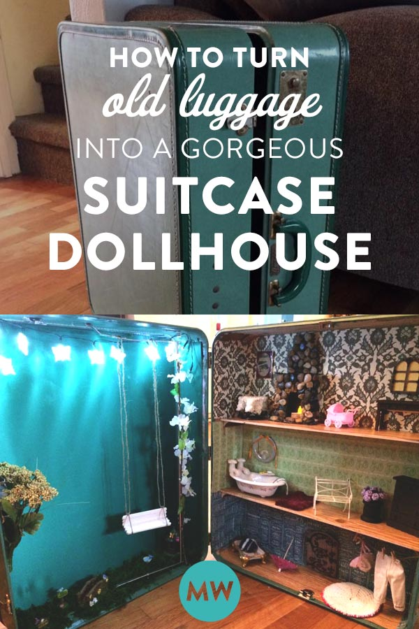 How to turn old luggage into a suitcase dollhouse