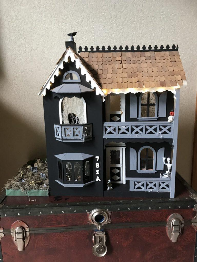 Finished haunted dollhouse!