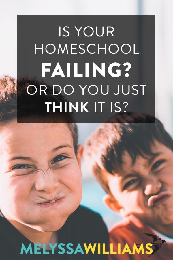 Homeschool Failure Warning Signs