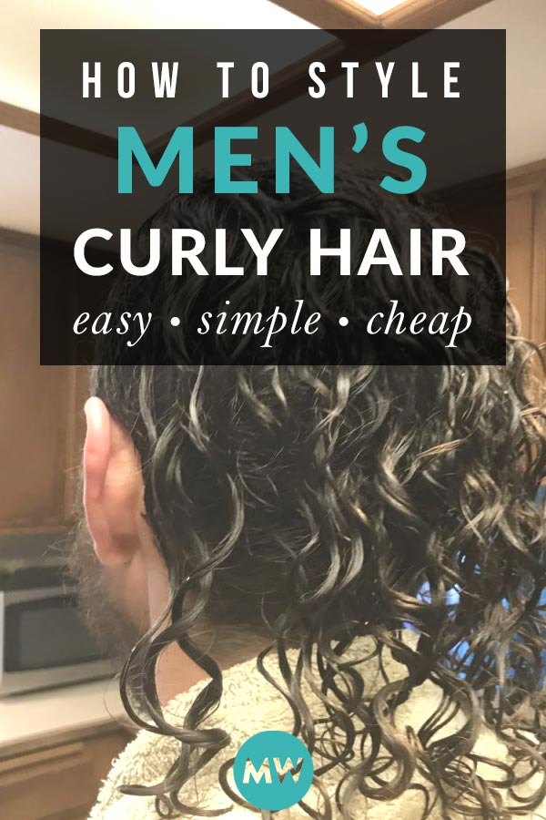 How to style guy's curly hair